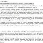 Private investigation award press release