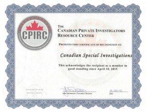 2015 - CPIRC certificate